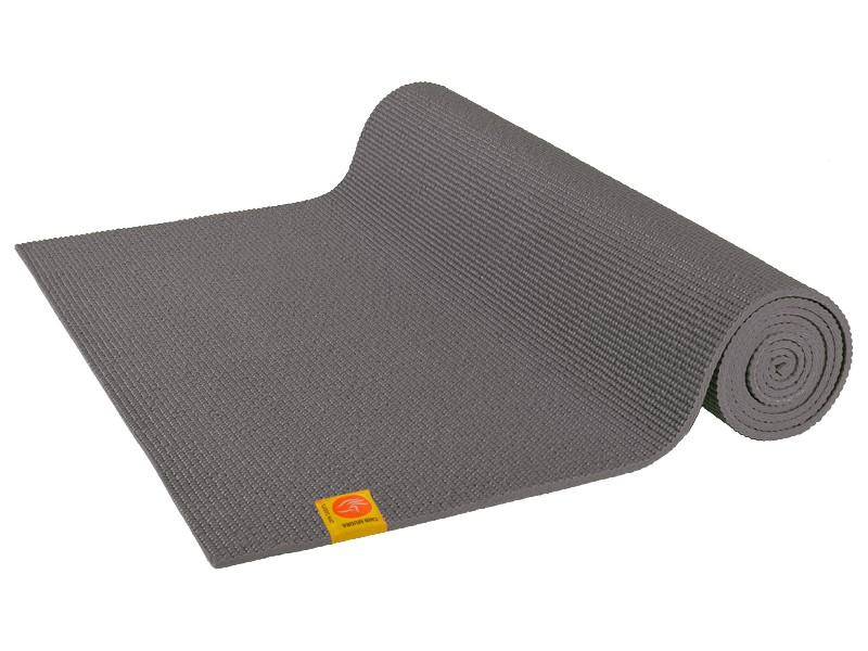 Tapis de yoga Non toxiques - 183cm x 61cm x 4.5mm Gris