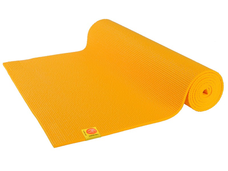 Tapis de yoga Non toxiques - 183cm x 61cm x 4.5mm Safran