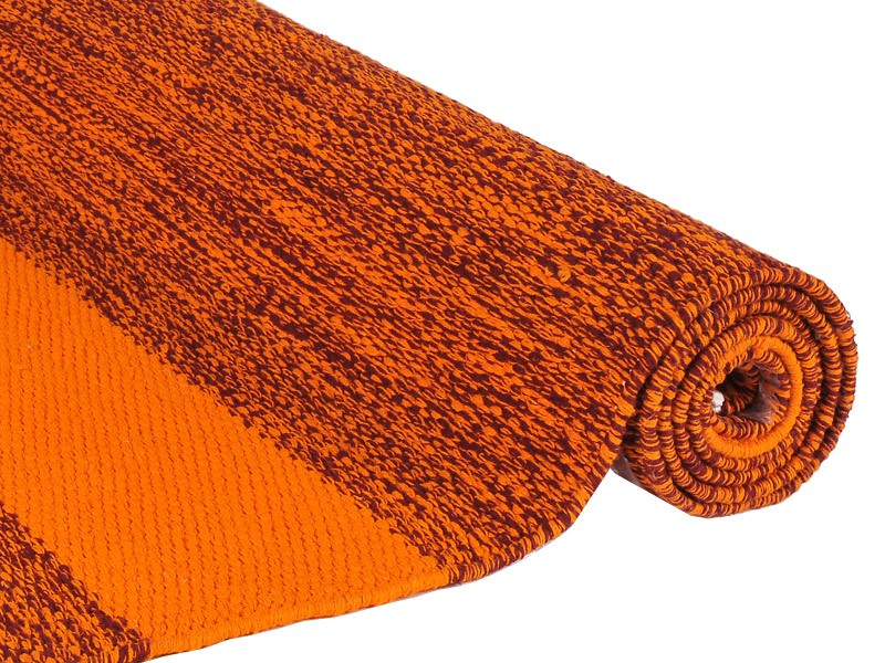 Tapis de yoga Taj 100% coton Bio - 2 m x 66 cm x 5mm Bordeaux/Safran
