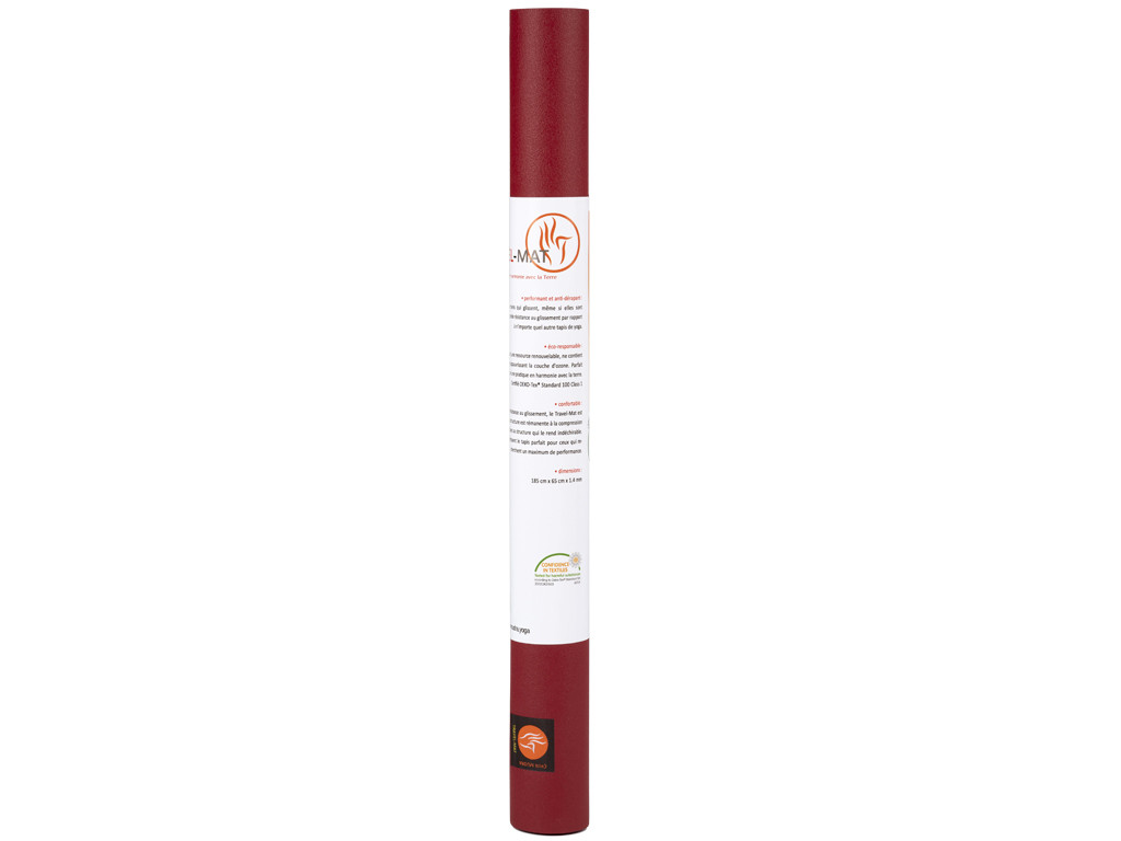 Tapis de yoga Travel-Mat - Bordeaux 185cm x 65cm x 1,3mm