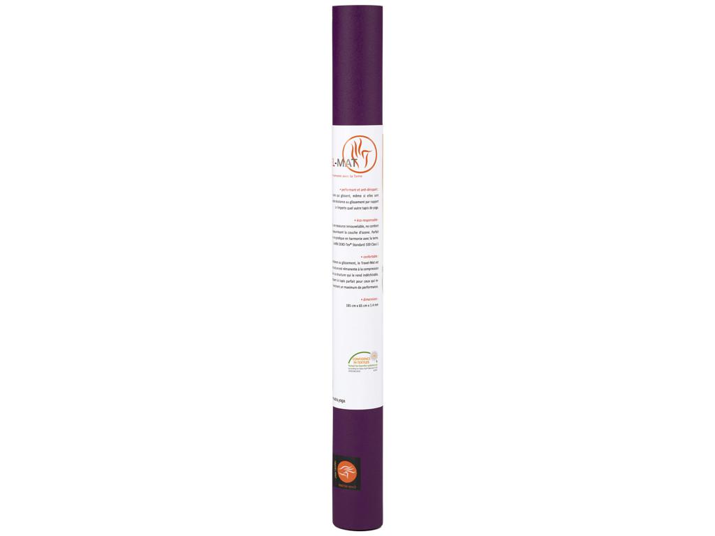Tapis de yoga Travel-Mat - Prune 185 cm x 65 cm x 1,3 mm
