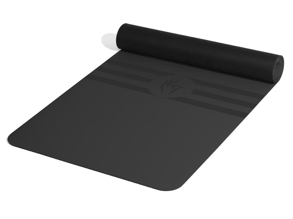 Tapis de yoga Tripundra Mat - Noir 183 cm x 61 cm x 4.0 mm