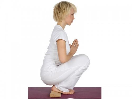 Article de Yoga Bloc de yoga en bois de Sésame Slanting plank 60cm x 9cm x 3cm