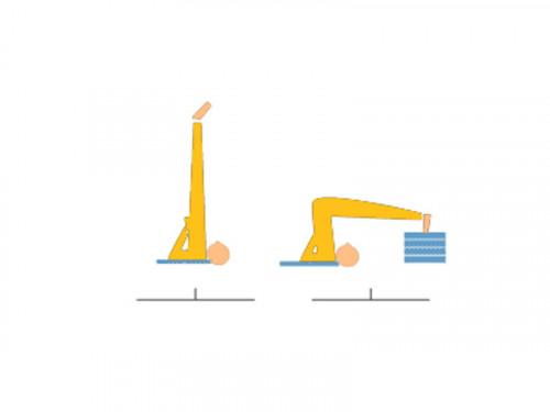 Article de Yoga Bloc de yoga Eva non toxique - 30cm x 20cm x 5cm Prune