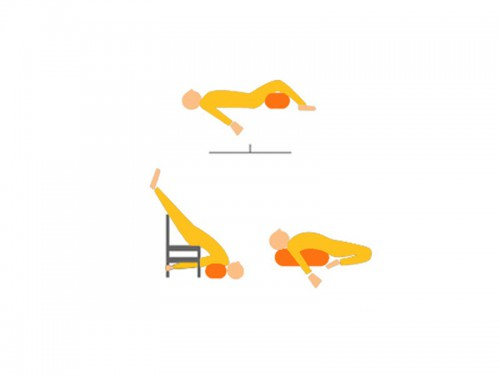 Article de Yoga Bolster de yoga 100 % coton Bio 65 cm x 21 cm KAPOK Bleu