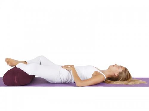 Article de Yoga Bolster de yoga 100 % coton Bio 65 cm x 21 cm KAPOK Orange Safran
