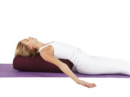 Article de Yoga Bolster de yoga 100 % coton Bio 65 cm x 21 cm KAPOK Vert