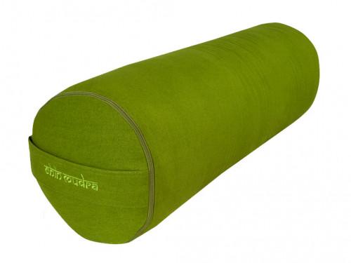 Bolster de yoga 100 % coton Bio Epeautre 65 cm x 21 cm Vert