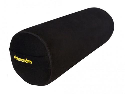 Bolster de yoga 100 % coton Bio Epeautre 65 cm x 21 cm Noir