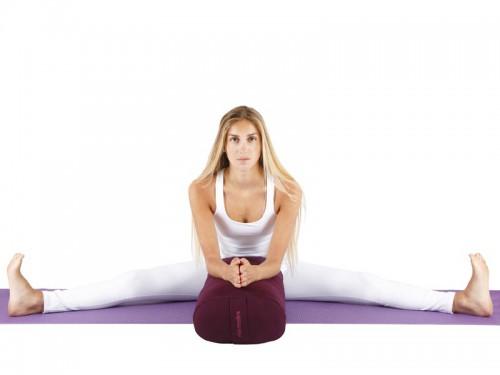 Article de Yoga Bolster de yoga Ovale KAPOK 100 % coton Bio 60cm x 15cm x 30cm Orange Safran