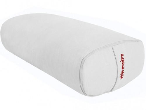 Bolster de yoga Ovale EPEAUTRE 100 % coton Bio 60 cm x15 cm x 30 cm Ecru