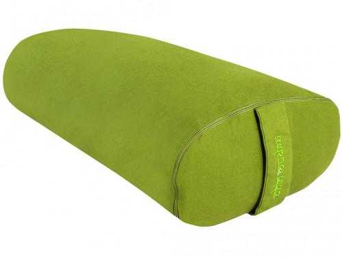 Bolster de yoga Ovale EPEAUTRE 100 % coton Bio 60 cm x15 cm x 30 cm Vert