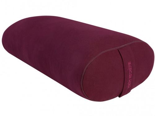Bolster de yoga Ovale EPEAUTRE 100 % coton Bio 60 cm x15 cm x 30 cm Prune