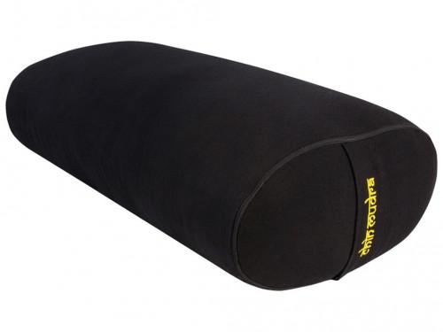 Bolster de yoga Ovale EPEAUTRE 100 % coton Bio 60 cm x15 cm x 30 cm Noir
