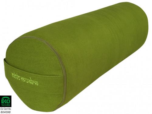 Bolster de yoga XL 100 % coton Bio 76 cm x 25 cm Vert