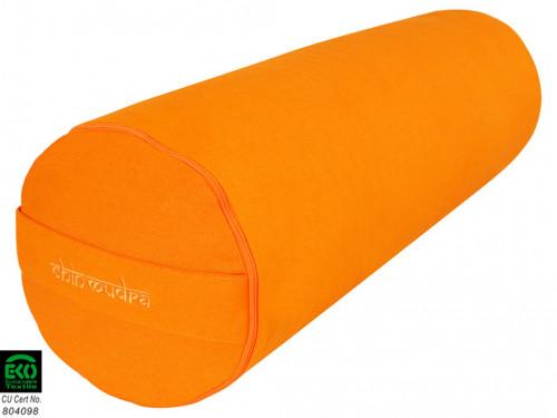 Bolster de yoga XL 100 % coton Bio 76 cm x 25 cm Safran