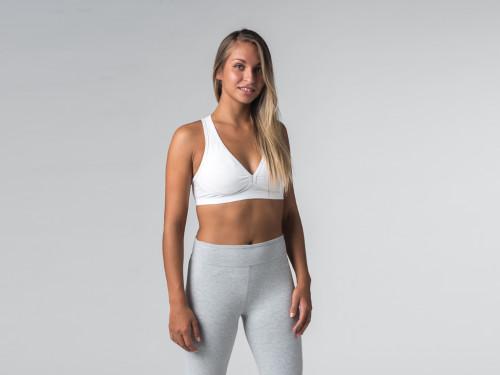 Brassière de Yoga Lift - Coton Bio Blanc