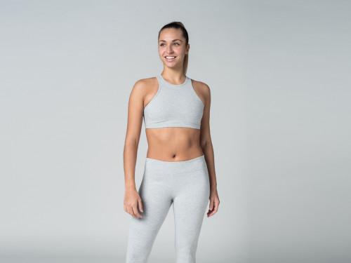 Brassière de Yoga studio - Coton Bio Gris