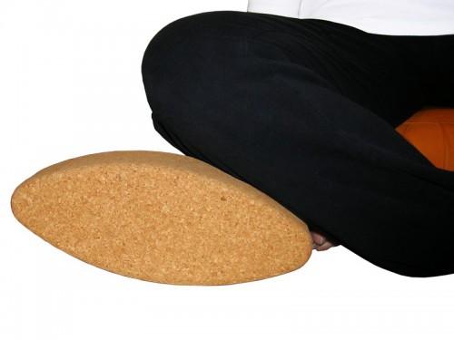 Brique de yoga liège ovale Egg 30.5cm x 12cm x 7.5cm