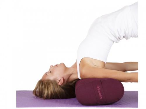 Article de Yoga Chaise de Yoga 2 barres Bordeaux