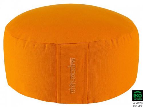 Coussin de méditation Lotus 100% coton Bio Orange Safran