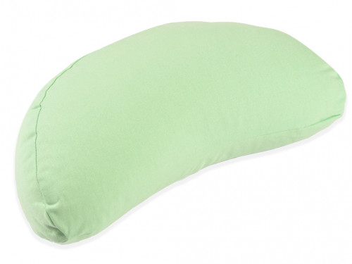 Coussin Fuzen (demi-lune) 100% coton Bio Vert Pastel
