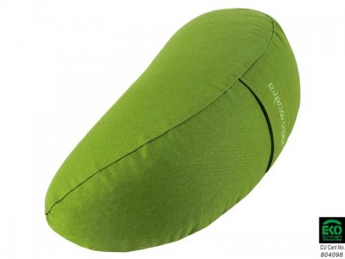 Article de Yoga Coussin Fuzen (demi-lune) 100% coton Bio Vert