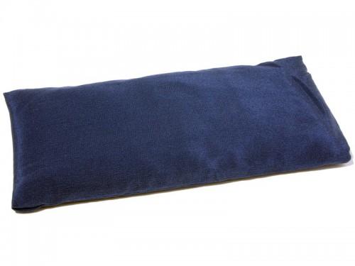 Coussinet pour les yeux  - Soie naturel & Lin bio Bleu