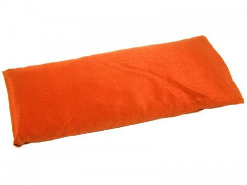 Coussinet pour les yeux - Soie naturel & Lin bio Orange safran