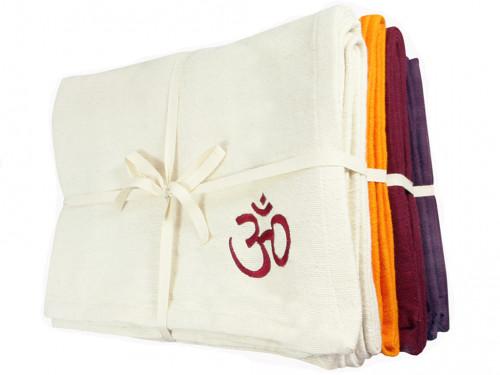 Couverture de yoga 100% coton bio 150cm X 200cm Lot de 6