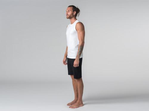 Article de Yoga Débardeur de yoga hommes - Coton bio Blanc