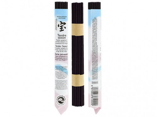 Article de Yoga Encens Japonais ''sans fumée'' Tendre Saison 35 bâtonnets x 30 min