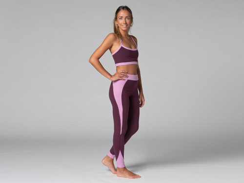 Legging de Yoga Bi-colore - Bio Prune