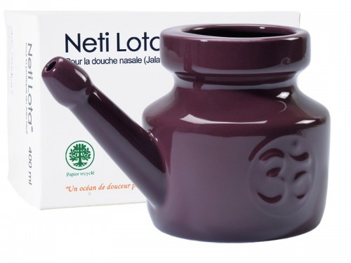 Lota Om en porcelaine émaillée 400ml Prune
