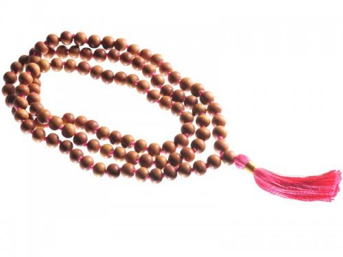 Mala 108 perles 8mm - Santal/Rose Mala 108 perles