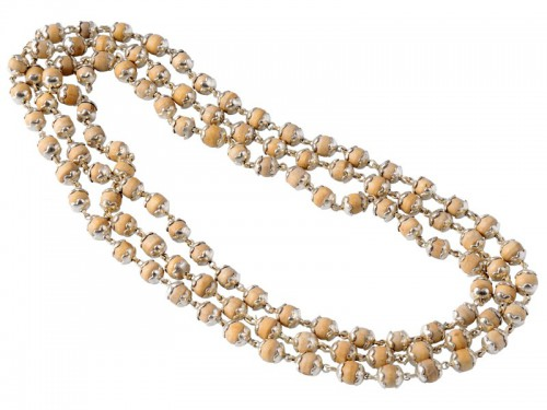 Mala 108 perles Argent massif & Tulsi