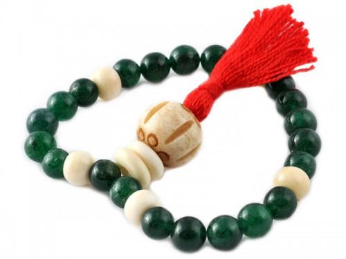 Mala 27 perles Jade & Os