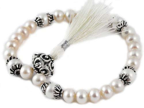Perles blanches naturelles Mala 27 perles