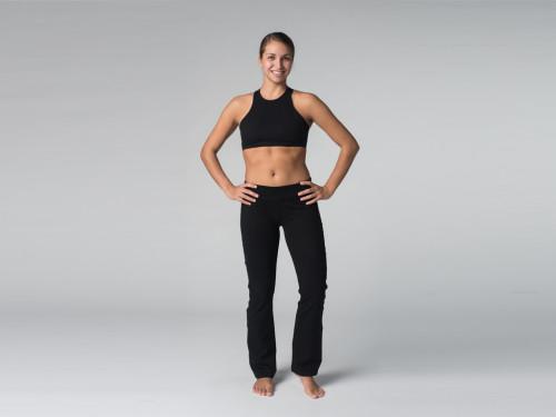 Pantalon de yoga Chic - 95% coton Bio et 5% Lycra Chin Mudra