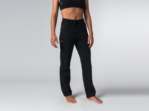 Article de Yoga Pantalon de yoga Confort Femme - Coton Bio Noir