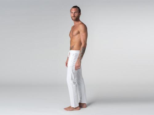 Article de Yoga Pantalon de yoga Confort homme - Coton Bio Blanc