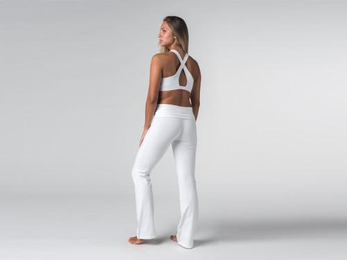 Article de Yoga Pantalon de yoga Jazz  - 95% coton Bio et 5% Lycra Blanc