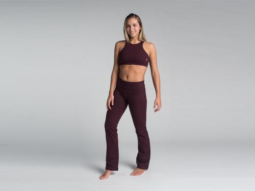 Article de Yoga Pantalon de yoga Jazz - 95% coton Bio et 5% Lycra Prune