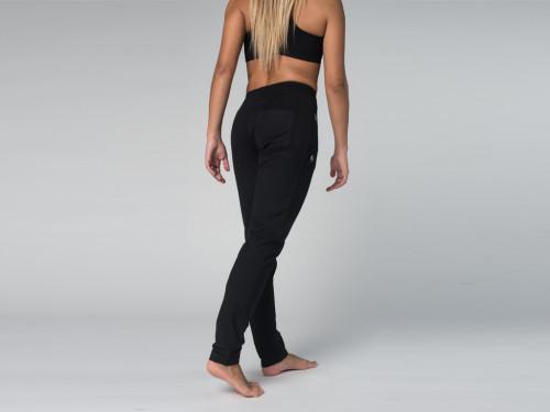 Article de Yoga Pantalon de yoga Slim Femme - Coton Bio Noir