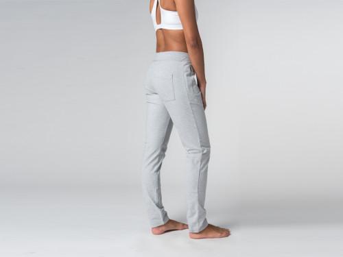 Article de Yoga Pantalon de yoga Slim Femme - Coton Bio Gris