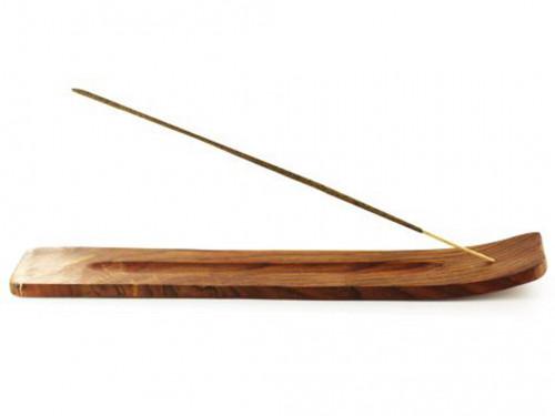 Porte encens indien Grande Gondole Bois L. 33 x l. 4 CM.