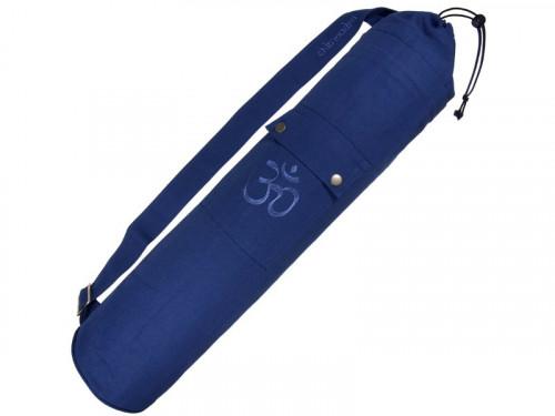 Sac à tapis de yoga 100% Coton Bio 90cm x 15cm Bleu