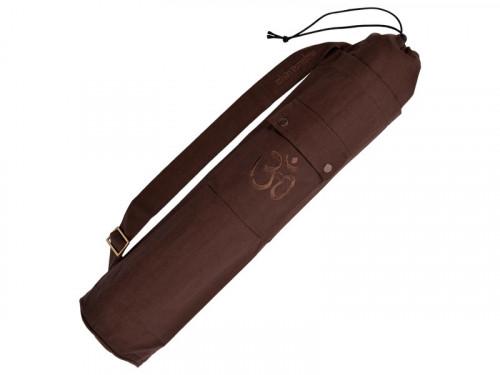 Sac à tapis de yoga 100% Coton Bio 90cm X 15cm Chocolat