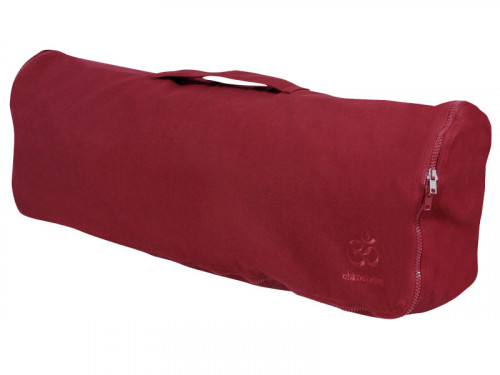 Sac à tapis de yoga Chic et Cool 100% Coton Bio 70cm x 17cm Bordeaux