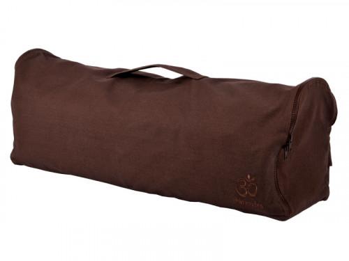 Sac à tapis de yoga Chic et Cool 100% Coton Bio 70cm x 17cm Chocolat